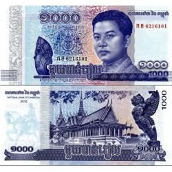 اسکناس 1000 ریل -  کامبوج 2016
