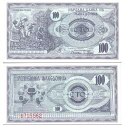اسکناس 100 دینار - مقدونیه 1992