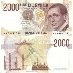 اسکناس 2000 لیر - ایتالیا 1990