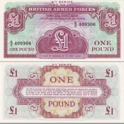 کوپن 1 پوند نیروهای مسلح بریتانیائی - سری چهارم  - انگلیس 1962