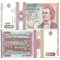 اسکناس  1000 لی - رومانی 1991