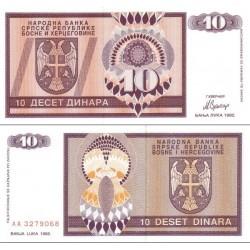 اسکناس 10 دینار - بوسنی و هرزگوین 1992