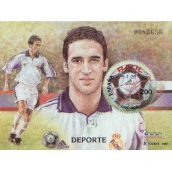 سونیرشیت نمایشگاه بین المللی تمبر  مادرید  2000 - رائول گونزالس ، فوتبالیست - اسپانیا 2000