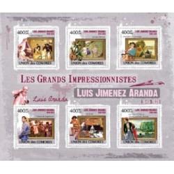 مینی شیت تابلوهای نقاشی امپرسیونیسم اثر لوئیز جیمنز آراندا - کومور 2009 قیمت 11.6  دلار