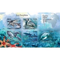 مینی شیت پستانداران - دبفینها - 1 - کومور 2011 قیمت 11.64 دلار