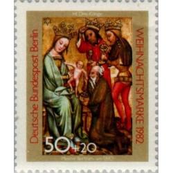 1 عدد تمبر کریستمس - تابلو نقاشی - برلین آلمان 1982