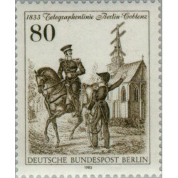 1 عدد تمبر تلگراف - برلین آلمان 1983