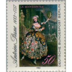 1 عدد تمبر تابلو نقاشی اثر آنتوین پسنه - آلمان 1983