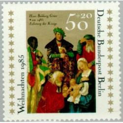 1 عدد تمبر کریستمس - آلمان 1985