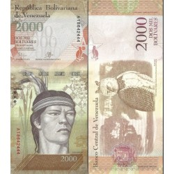 اسکناس 2000 بولیوار - ونزوئلا 2016