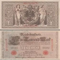 اسکناس 1000 مارک آلمان  1910 تک - با کیفیت خوب