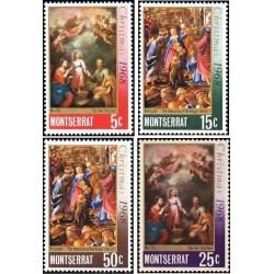 4 عدد تمبر کریستمس  - مونتسرت 1968