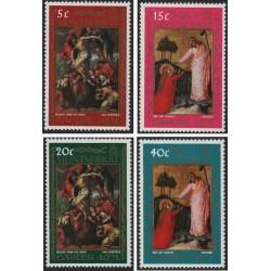 4 عدد تمبر عید پاک - مونتسرت 1971
