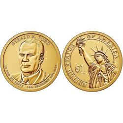 سکه 1 دلار یادبود جرالد فورد - 38مین رئیس جمهوری - آمریکا 2016