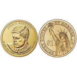 سکه 1 دلار یادبود جان اف کندی - 35مین رئیس جمهوری - آمریکا 2015
