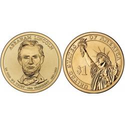 سکه 1 دلار یادبود آبراهام لینکلن - 16مین رئیس جمهوری - آمریکا 2010