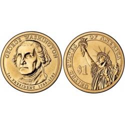 سکه 1 دلار یادبود جرج واشنگتن - اولین رئیس جمهوری - آمریکا 2007