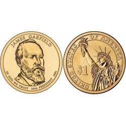 سکه 1 دلار یادبود جیمز گارفیلد -بیستمین رئیس جمهوری - آمریکا 2011