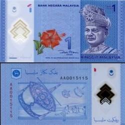 اسکناس پلیمر 1 رینگیت مالزی 2011 تک