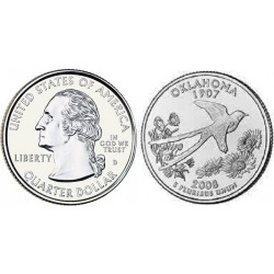 سکه کوارتر - ایالت اوکلاهاما - آمریکا 2008 غیر بانکی