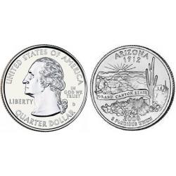 سکه کوارتر - ایالت آریزونا - آمریکا 2008 غیر بانکی