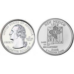 سکه کوارتر - ایالت نیومکزیکو - آمریکا 2008
