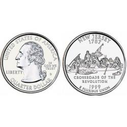 سکه کوارتر - ایالت نیوجرسی - آمریکا 1999