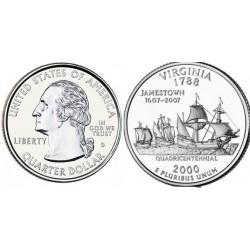 سکه کوارتر - ایالت ویرجینیا - آمریکا 2000