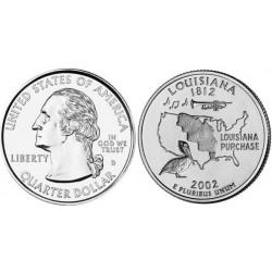 سکه کوارتر - ایالت لوئیزیانا - آمریکا 2002