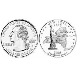 سکه کوارتر - ایالت نیویورک - آمریکا 2001