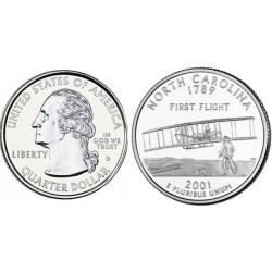 سکه کوارتر -ایالت کارولینای شمالی - آمریکا 2001