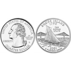 سکه کوارتر - ایالت رودایلند - آمریکا 2001