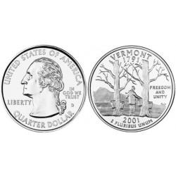سکه کوارتر - ایالت ورمونت - آمریکا 2001