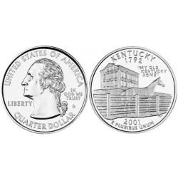 سکه کوارتر - ایالت کنتاکی - آمریکا 2001