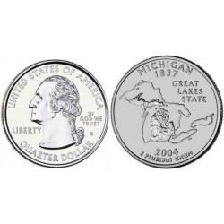 سکه کوارتر - ایالت میشیگان - آمریکا 2004