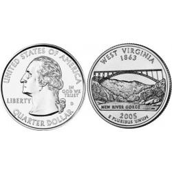 سکه کوارتر - ایالت ویرجینیای غربی - آمریکا 2005