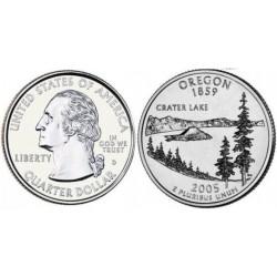 سکه کوارتر - ایالت اورگوان - آمریکا 2005 غیربانکی