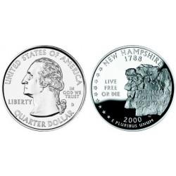 سکه کوارتر - ایالت نیوهمشایر - آمریکا 2000