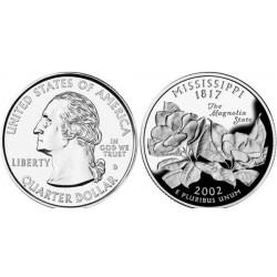 سکه کوارتر - ایالت می سی سی پی - آمریکا 2002