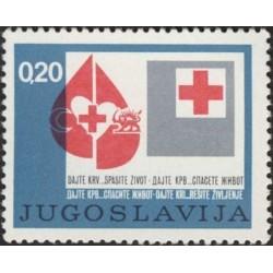 1 عدد تمبر  صلیب سرخ - شیر و خورشید - یوگوسلاوی 1974