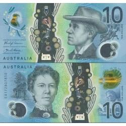 اسکناس پلیمر 10 دلار - استرالیا 2017 سفارشی