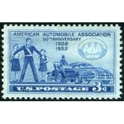 1 عدد تمبر انجمن خودرو  - آمریکا 1952