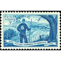 1 عدد تمبر مزارع آینده آمریکا - آمریکا 1953