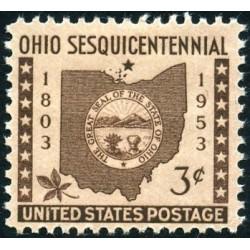 1 عدد تمبر 150مین سالگرد تاسیس ایالت اوهایو - آمریکا 1953
