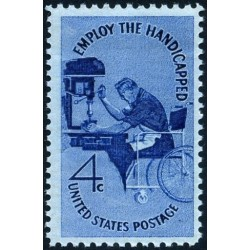 1عدد تمبر استخدام معلولان - آمریکا 1960