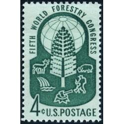 1عدد تمبر کنگره جهانی جنگل - آمریکا 1960