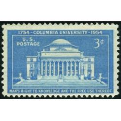 1 عدد تمبر دانشگاه کلمبیا - آمریکا 1954