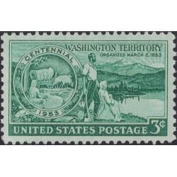 1 عدد تمبر عهدنامه واشنگتن - آمریکا 1953