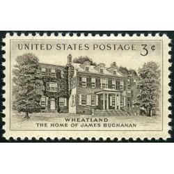 1 عدد تمبر ویتلند - منزل جیمز بوچنان  - آمریکا 1956