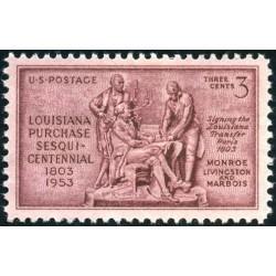 1عدد تمبر 150مین سالگرد خرید لوئیزیانا - آمریکا 1953
